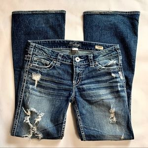 Silver Jeans Ultra Distressed Frances Flare